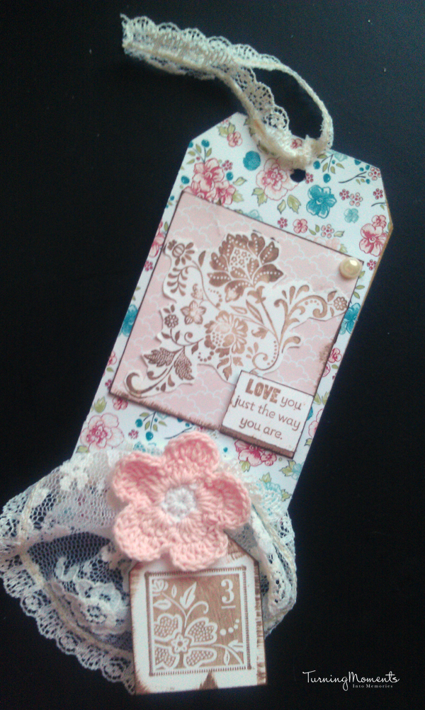 Stampin' Up Twitterpated Vintage Tag