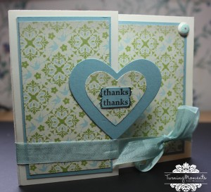 Stampin' Up Thank you Note Everyday Enchantment