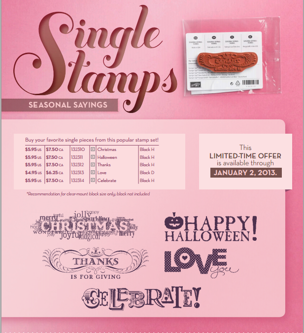 New Single Stamp Sets From Stampin' Up!