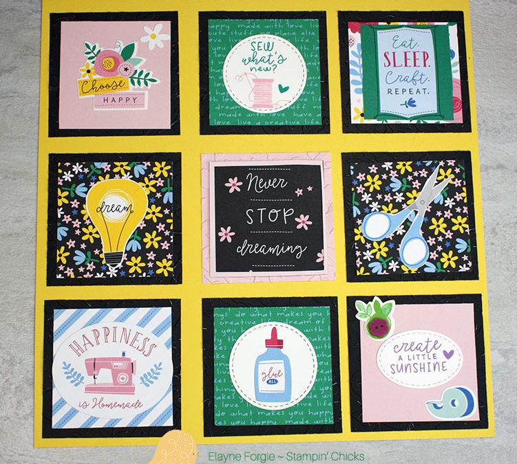 "Craft On 12″ x 12″ Project for ""The Hen Den"""