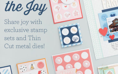 New Share the Joy Stamps Sets and Thin Cuts!